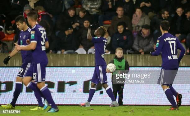 20171118 Mouscron Belgium / Excel Mouscron v Rsc Anderlecht / 'nHenry ONYEKURU Celebration'nFootball Jupiler Pro League 2017 2018 Matchday 15 /...