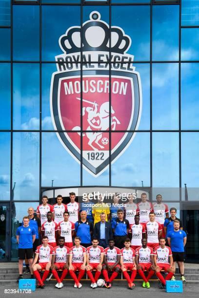 20170717 Mouscron Belgium / Photoshoot Royal Excel Mouscron 2017 2018 / 'n'nBack row Dimitri MOHAMED Selim AMALLAH Bruno GODEAU Jean BUTEZ Logan...