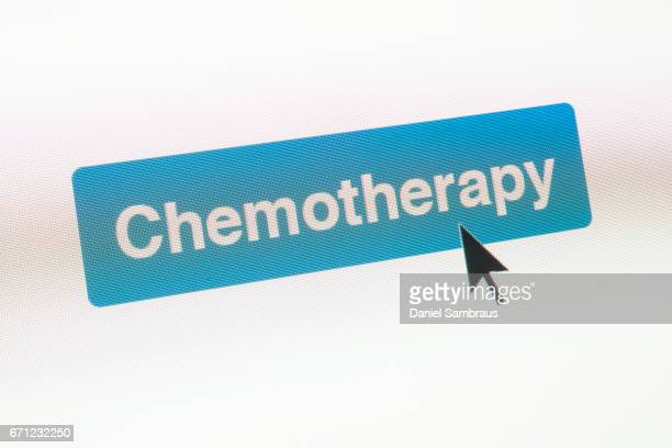Mouse arrow clicking on CHEMOTHERAPY button on computer screen
