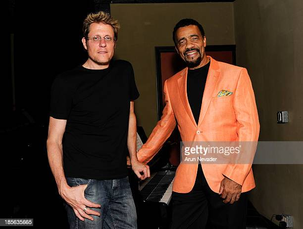 Mouse House Studio recording engineer/Oleander band member Rich Mouser and pianist Bobby Lyle attend the Kaylene Peoples My Man CD recording session...