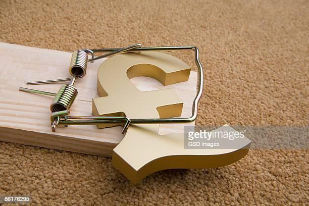 Mouse trap captures Pound Sterling symbol