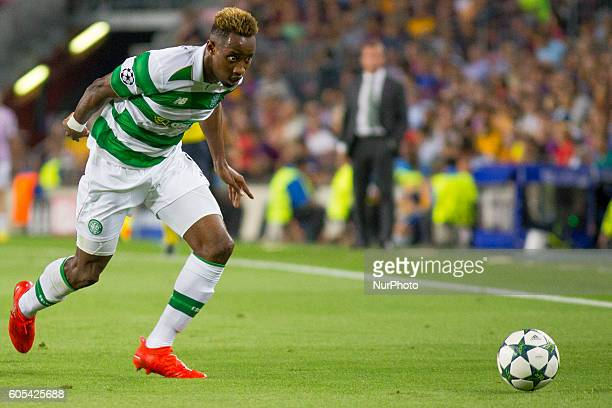 Moussa Dembelé during Champions League match between FC Barcelona and Glasgow Celtic in Barcelona on September 13 2016