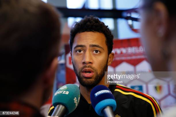 Moussa Dembele midfielder of Belgium picture during the press conference and training session of the Red Devils at the national training center on...