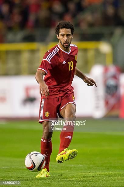 Moussa Dembele of Belgium during the International friendly match between Belgium and Iceland on November 12 2014 at the Koning Boudewijn stadium in...