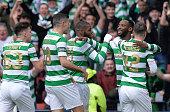 glasgow scotland moussa dembele celtic celebrates