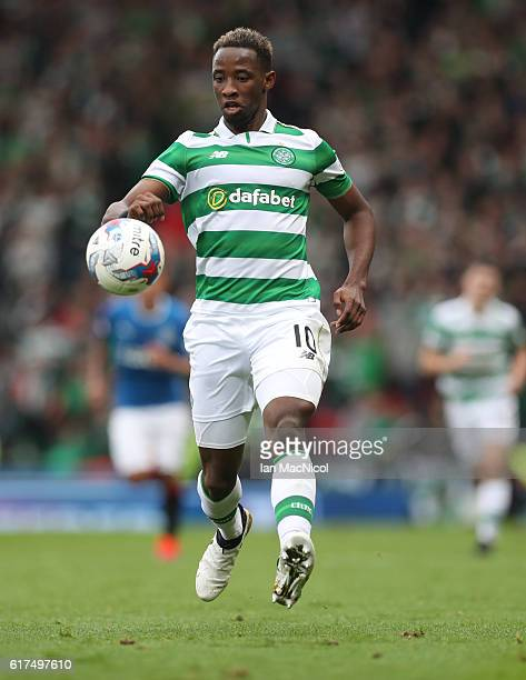 Moussa Dembele of Celtic controls the ball during the Betfred Cup Semi Final match between Rangers and Celtic at Hampden Park on October 23 2016 in...