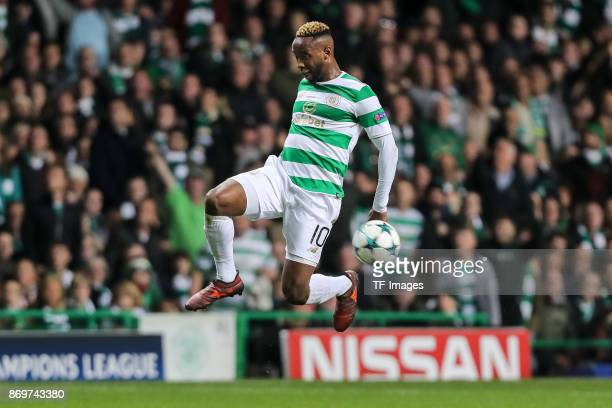 Moussa Dembele of Celtic controls the ball during the UEFA Champions League group B match between Celtic FC and Bayern Muenchen at Celtic Park on...