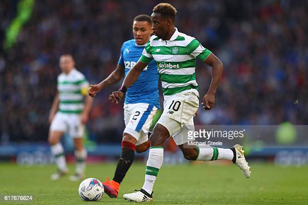 Moussa Dembele of Celtic during the Betfred Cup SemiFinal match between Rangers and Celtic at Hampden Park on October 23 2016 in Glasgow Scotland