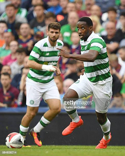 Moussa Dembele of Celtic during the International Champions Cup series match between Barcelona and Celtic at Aviva Stadium on July 30 2016 in Dublin...
