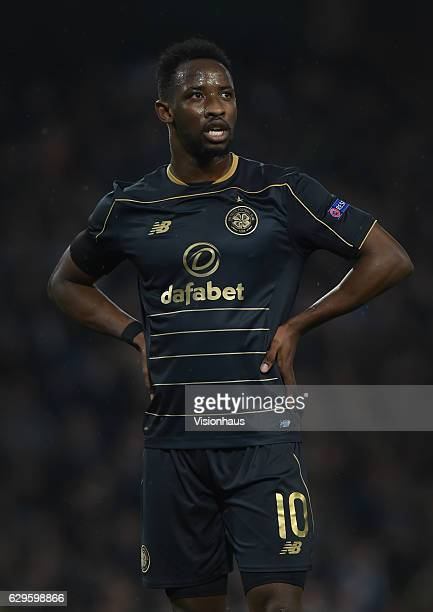 Moussa Dembele of Celtic during the UEFA Champions League match between Manchester City FC and Celtic FC at Etihad Stadium on December 6 2016 in...
