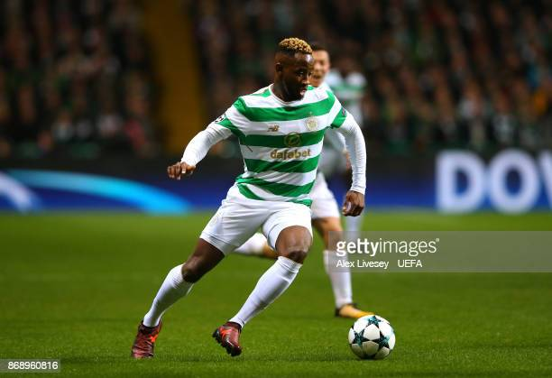 Moussa Dembele of Celtic FC during the UEFA Champions League group B match between Celtic FC and Bayern Muenchen at Celtic Park on October 31 2017 in...