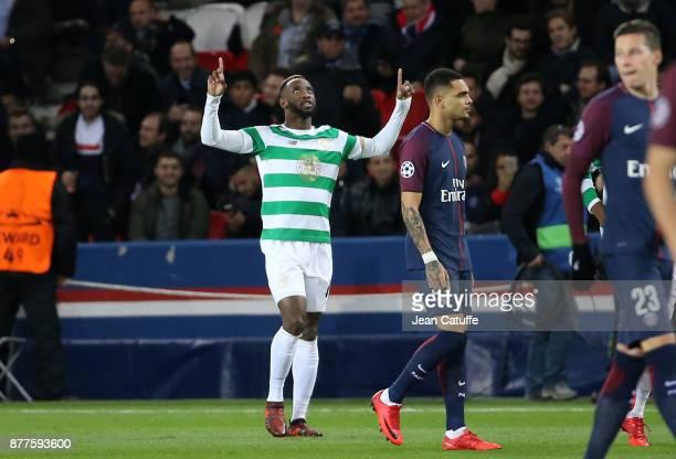Moussa Dembele of Celtic Glasgow during the UEFA Champions League group B match between Paris SaintGermain and Celtic FC at Parc des Princes on...