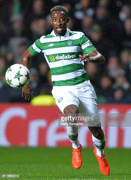 Moussa Dembele of Celtic in action during the UEFA Champions League match between Celtic FC and Manchester City FC at Celtic Park on September 28...