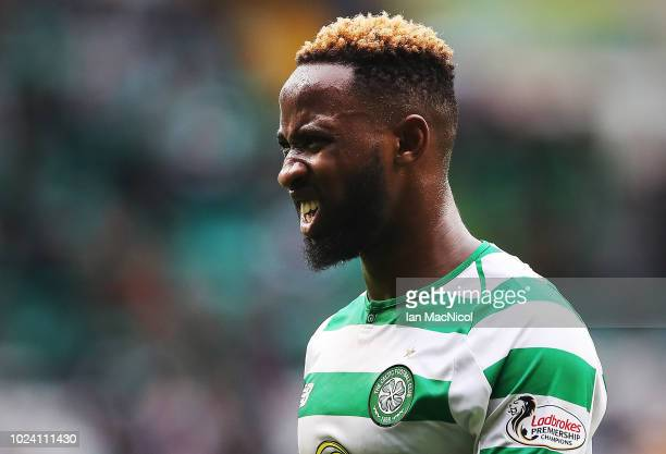 Moussa Dembele of Celtic is seen during the Scottish Premier League match between Celtic and Hamilton Academical at Celtic Park Stadium on August 25...