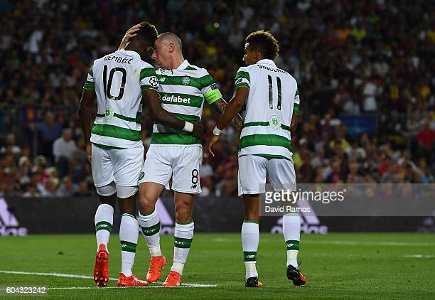 Moussa Dembele of Celtic looks dejected after missing a penalty during the UEFA Champions League Group C match between FC Barcelona and Celtic FC at...