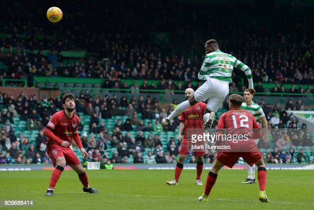 Moussa Dembele of Celtic scores his first goal of the game during the Scottish Cup Quarter Final match between Celtic and Greenock Morton at Celtic...