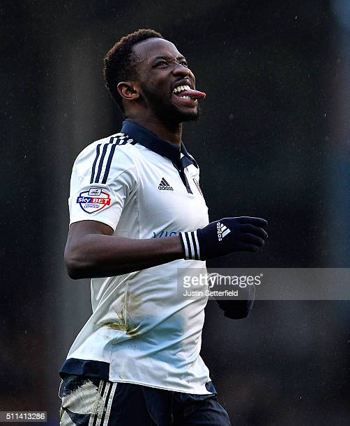 Moussa Dembele of Fulham FC reacts during the Sky Bet Championship match between Fulham and Charlton Athletic at Craven Cottage on February 20 2016...
