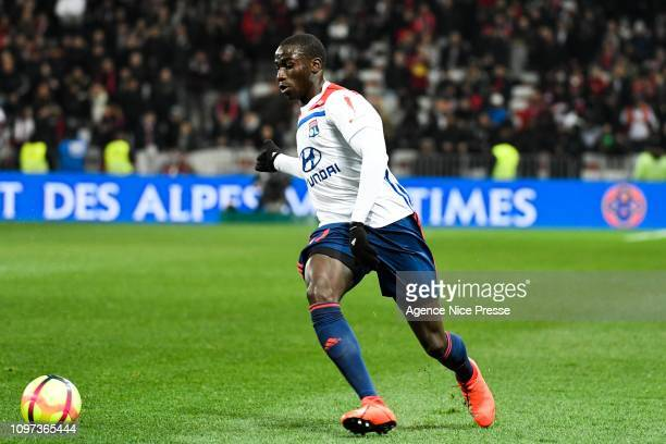 Moussa Dembele of Lyon during the Ligue 1 match between Nice and Lyon at Allianz Riviera on February 10 2019 in Nice France