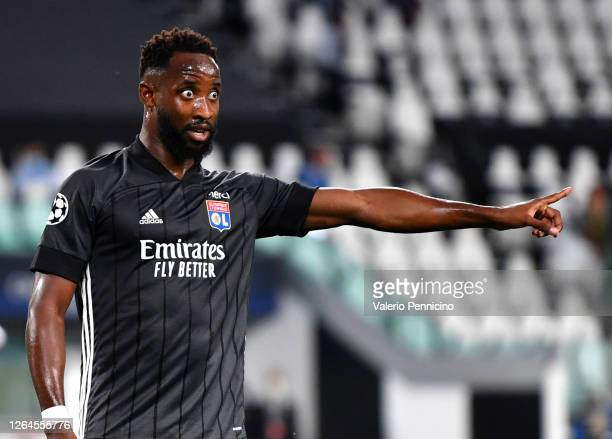 Moussa Dembele of Olympique Lyon reacts during the UEFA Champions League round of 16 second leg match between Juventus and Olympique Lyon at Allianz...