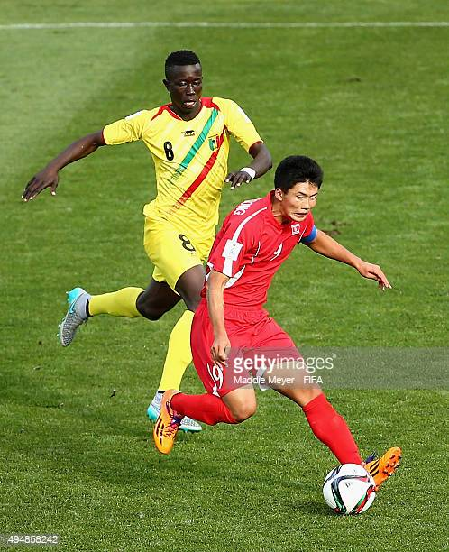Moussa Diakite of Mali defends Han Kwang Song of Korea DPR during the FIFA U17 World Cup Chile 2015 Round of 16 match between Mali and Korea DPR at...