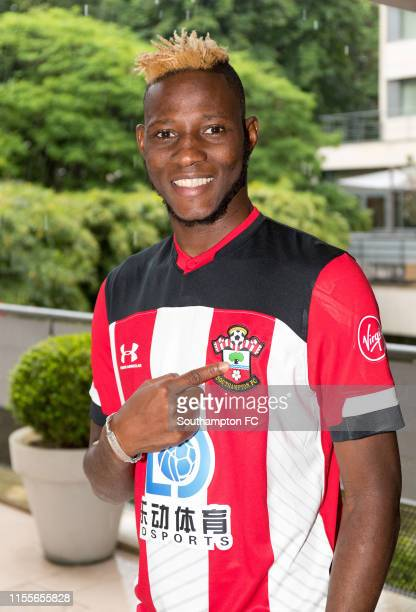 Moussa Djenepo of Southampton poses for a photo during the unveiling of new Southampton FC signing Moussa Djenepo on June 05, 2019 in Paris, France.
