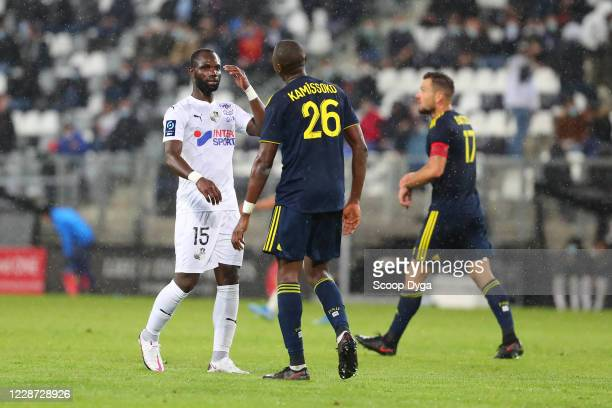 Moussa KONATE of AMIENS and Mamadou KAMISSOKO of PAU during the Ligue 2 match between Amiens and Pau on September 26, 2020 in Amiens, France.