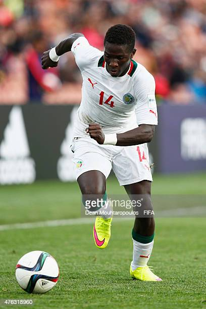 Moussa Kone of Senegal in action during the FIFA U20 World Cup New Zealand 2015 Group C match between Senegal and Qatar held at Waikato Stadium on...