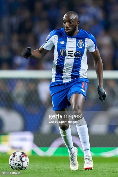 Moussa Marega of FC Porto in action during the Liga Nos match between FC Porto and Rio Ave FC at Estadio do Dragao on March 07 2020 in Porto Portugal