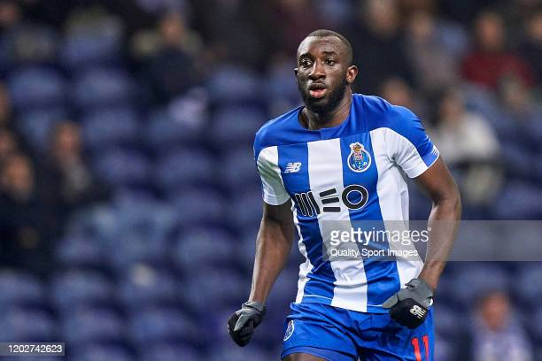 Moussa Marega of FC Porto looks on during the Liga Nos match between FC Porto and Gil Vicente FC at Estadio do Dragao on January 28 2020 in Porto...