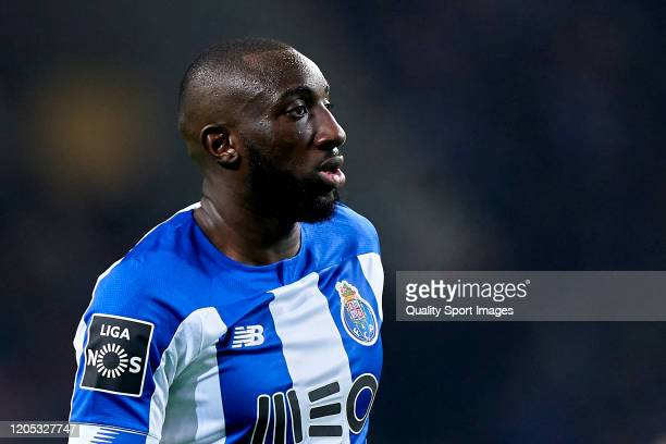 Moussa Marega of FC Porto looks on during the Liga Nos match between FC Porto and SL Benfica at Estadio do Dragao on February 08 2020 in Porto...