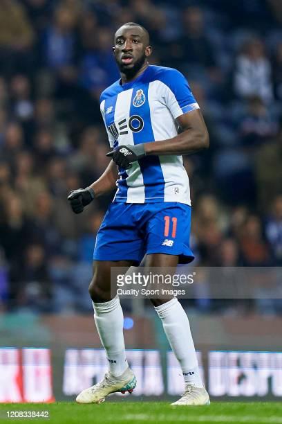 Moussa Marega of FC Porto looks on during the Liga Nos match between FC Porto and Portimonense SC at Estadio do Dragao on February 23 2020 in Porto...