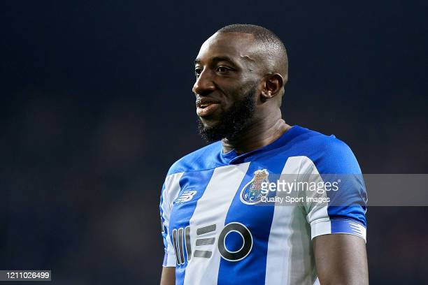 Moussa Marega of FC Porto looks on during the Liga Nos match between FC Porto and Rio Ave FC at Estadio do Dragao on March 07 2020 in Porto Portugal