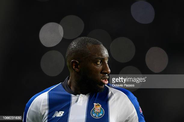Moussa Marega of FC Porto reacts during the Group D match of the UEFA Champions League between FC Porto and FC Schalke 04 at Estadio do Dragao on...