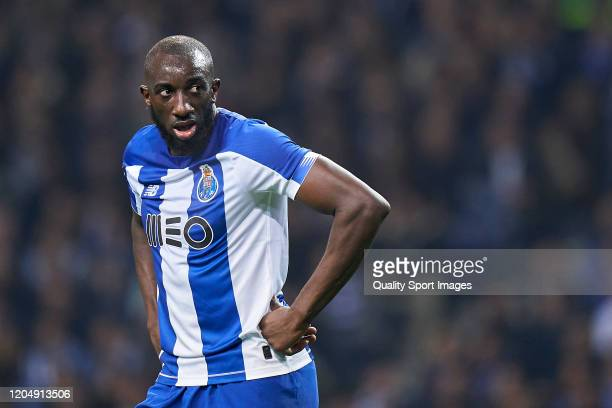 Moussa Marega of FC Porto reacts during the Liga Nos match between FC Porto and SL Benfica at Estadio do Dragao on February 08 2020 in Porto Portugal