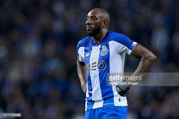 Moussa Marega of FC Porto reacts during the Liga Nos match between FC Porto and Rio Ave FC at Estadio do Dragao on March 07 2020 in Porto Portugal