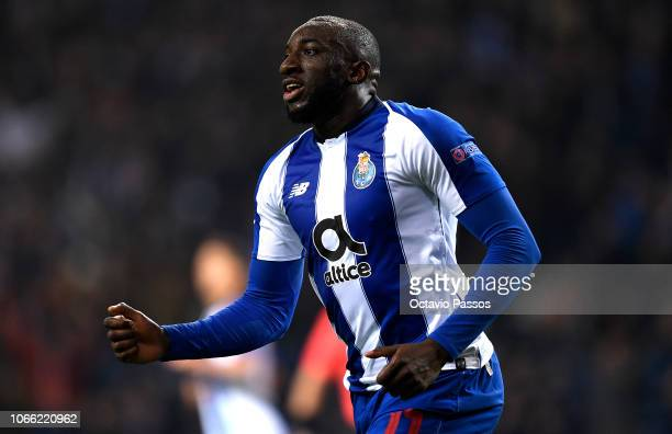 Moussa Marega of FC Porto scores his sides third goal during the UEFA Champions League Group D match between FC Porto and FC Schalke 04 at Estadio do...
