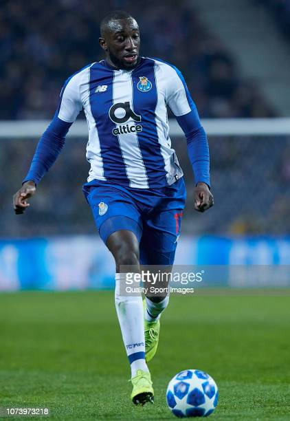 Moussa Marega of Porto in action during the Group D match of the UEFA Champions League between FC Porto and FC Schalke 04 at Estadio do Dragao on...
