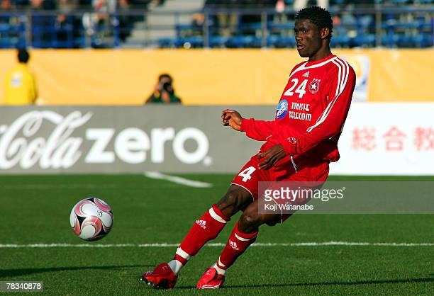 Moussa Narry of Etoile Sportive du Sahel pass the ball during the FIFA Club World Cup Japan 2007 match between Etoile Sportive du Sahel and Pachuca...