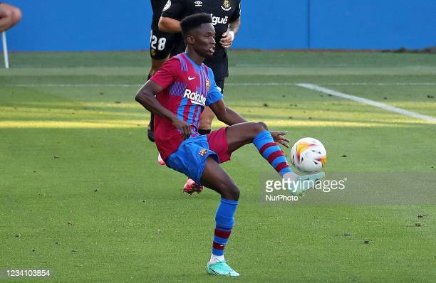 Moussa Ndiaye during the friendly match between FC Barcelona and Club Gimnastic de Tarragona, played at the Johan Cruyff Stadium on 21th July 2021,...