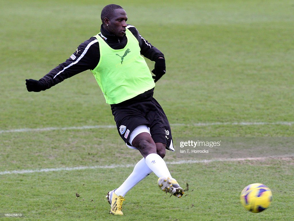 Moussa Sissoko during a Newcastle United training session at The Little Benton training ground on January 31, 2013 in Birmingham, England.