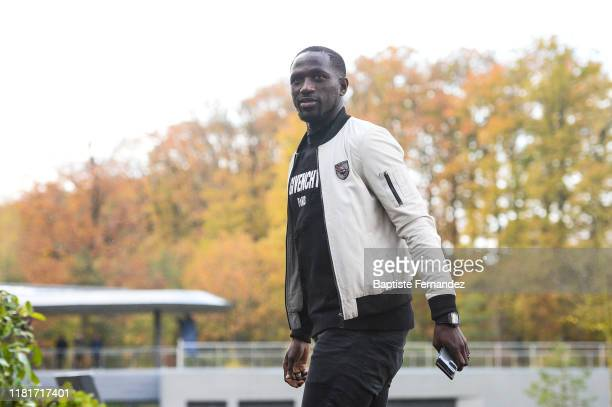 Moussa SISSOKO of France arrives at Centre National du Football on November 11, 2019 in Clairefontaine, France.