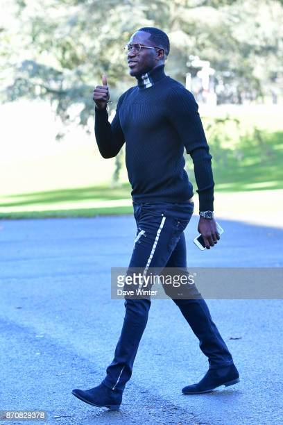 Moussa Sissoko of France arrives at the Centre National du Football in Clairefontaine en Yvelines France on November 6 2017