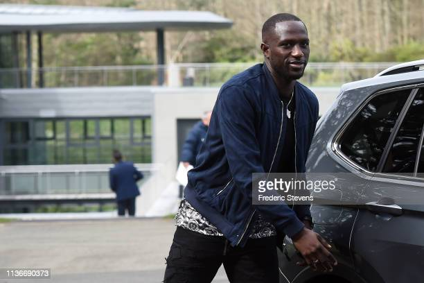 Moussa Sissoko of France arrives at the National Football Centre as part of the preparation to UEFA Euro 2020 on March 18, 2019 in Clairefontaine,...
