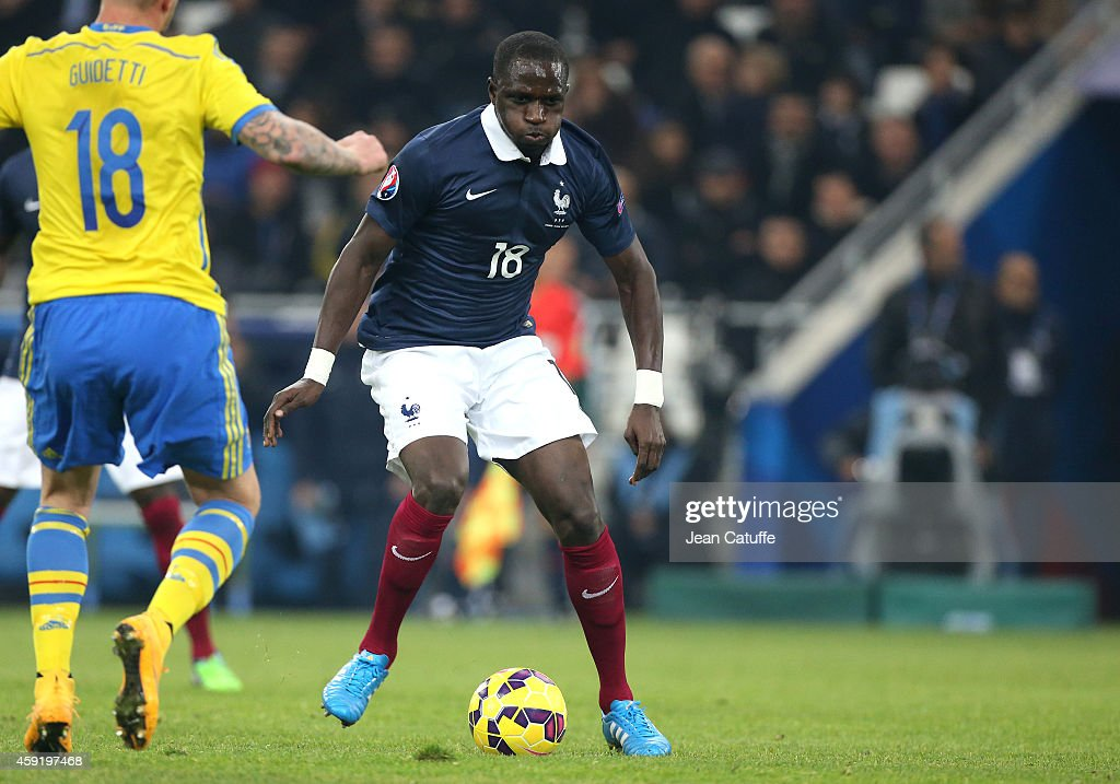 Moussa Sissoko of France in action during the international friendly match between France and Sweden at the Stade Velodrome on November 18, 2014 in Marseille, France.
