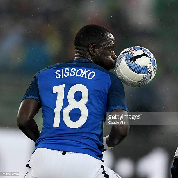 Moussa Sissoko of France in action during the international friendly match between Italy and France at Stadio San Nicola on September 1 2016 in Bari...