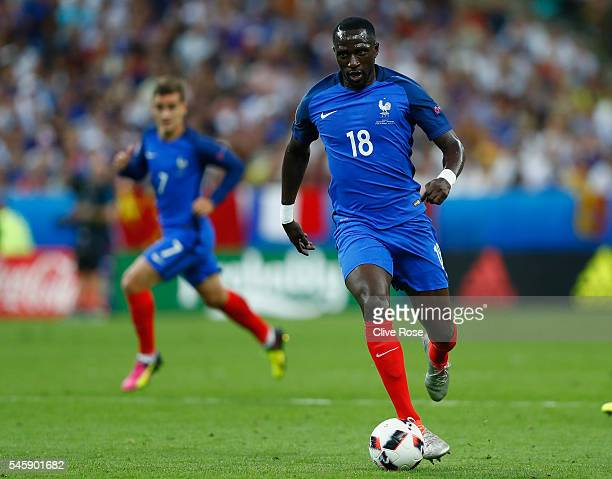 Moussa Sissoko of France in action during the UEFA EURO 2016 Final match between Portugal and France at Stade de France on July 10 2016 in Paris...
