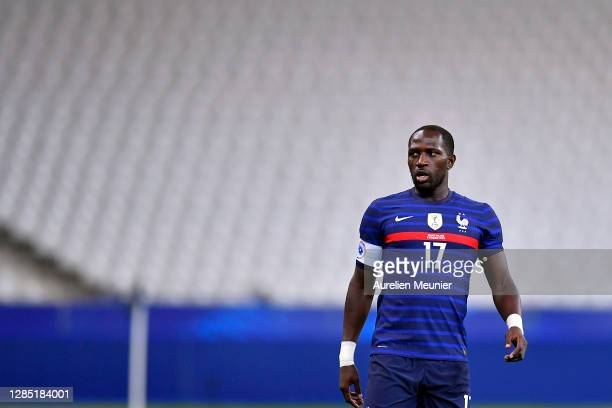 Moussa Sissoko of France looks on during the international friendly match between France and Finland at Stade de France on November 11, 2020 in...