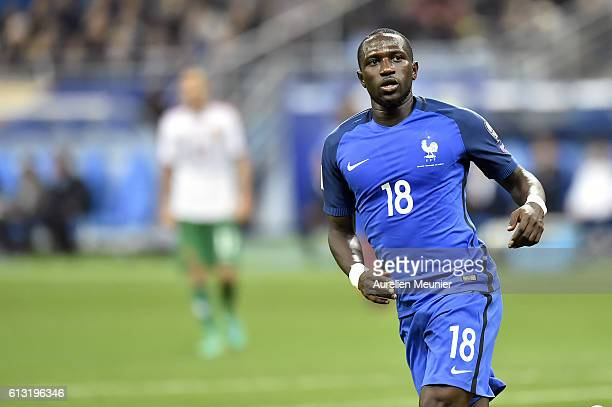 Moussa Sissoko of France reacts during the FIFA 2018 World Cup Qualifier between France and Bulgaria at Stade de France on October 7 2016 in Paris...