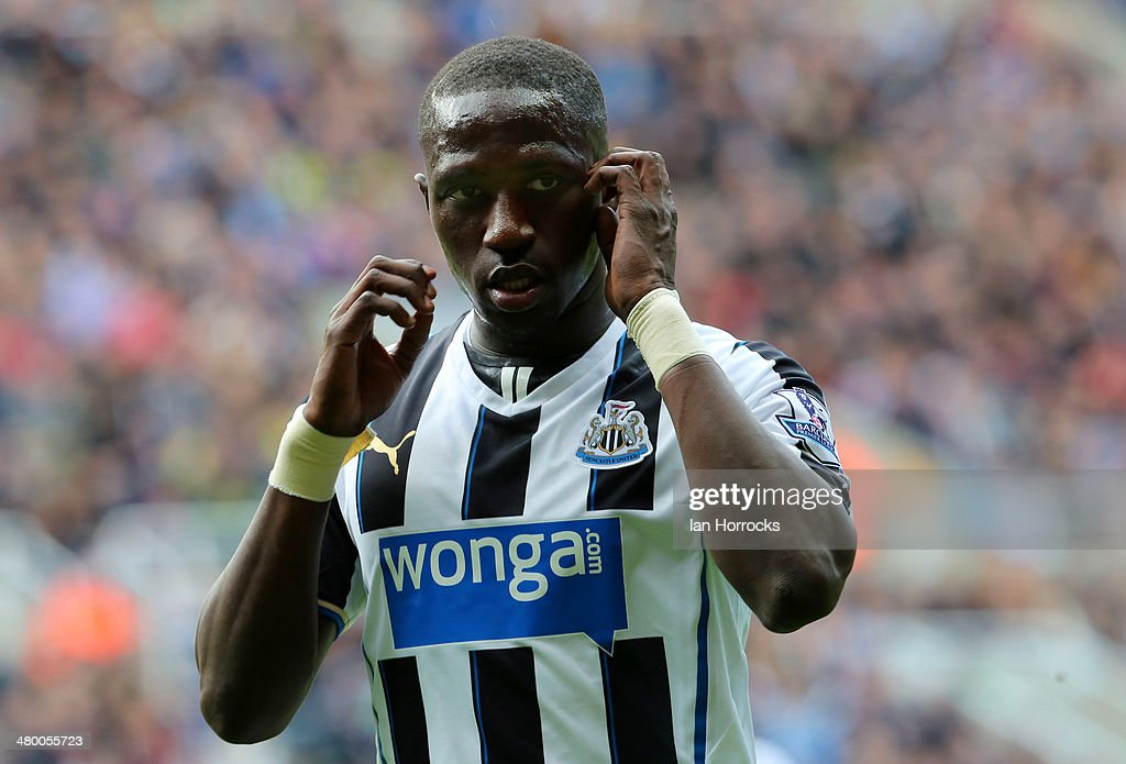 Moussa Sissoko of Newcastle United during the Barclays Premier League match between Newcastle United and Crystal Palace at St James' Park on March 22, 2014 in Newcastle upon Tyne, England.