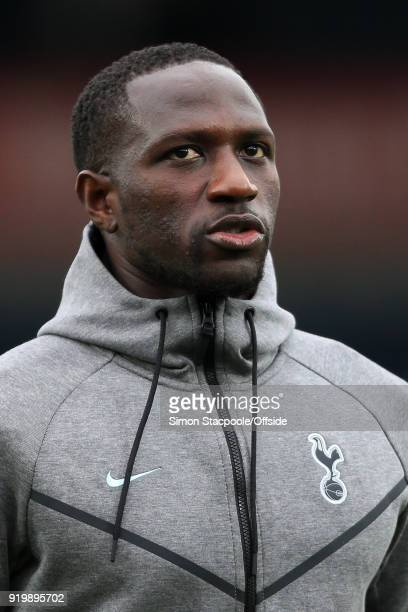 Moussa Sissoko of Spurs looks on before The Emirates FA Cup Fifth Round match between Rochdale AFC and Tottenham Hotspur at Spotland Stadium on...